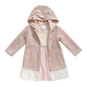 Sweetheart Dress & Coat 0/3 pink waffle bunny bow